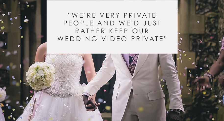 Wedding video hidden with password