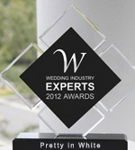 Wedding Industry Experts Award - Pretty in White - Best Videographer - Best London Wedding Videographer 2012